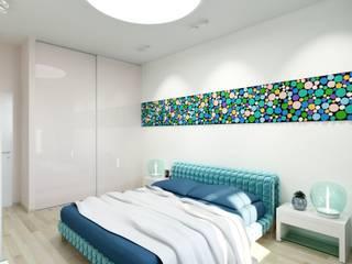 Dormitorios modernos de nadine buslaeva interior design Moderno