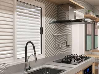 Aresto Arquitetura Kitchen units Grey