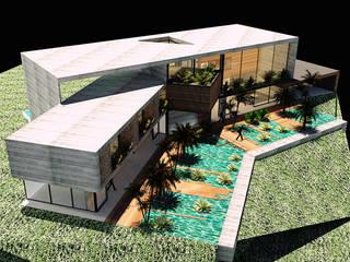 CASA 01 Casas modernas de D2 ARQUITECTURA Y MOBILIARIO Moderno
