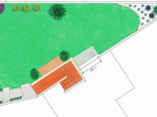 Diseño de Jardín en vivienda unifamiliar - Barrio uno, Ezeiza. de Cortaderas Rústico