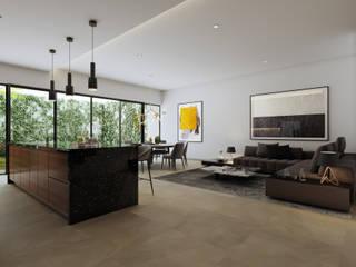 Salones de estilo  de BlackPolygon, Moderno