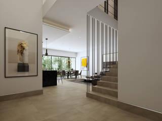 Escaleras de estilo  de BlackPolygon, Moderno