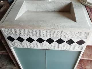 LAVABO DE MÁRMOL de Muebles para baño ORSA Rústico