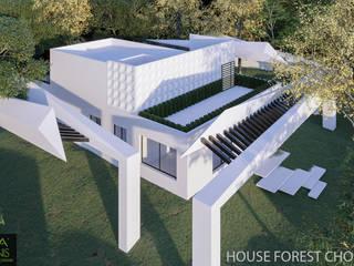FOREST HOUSE CHOLUL, YUCATÁN: Casas ecológicas de estilo  por AIDA TRACONIS ARQUITECTOS EN MERIDA YUCATAN MEXICO,