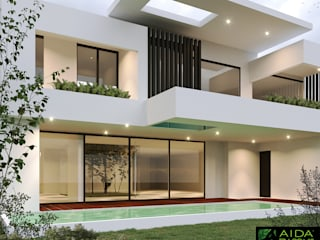 Single family home by AIDA TRACONIS ARQUITECTOS EN MERIDA YUCATAN MEXICO, Modern