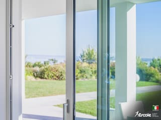 Ercole Srl Minimalist windows & doors Glass Transparent