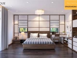Mẫu thiết kế biệt thự gỗ óc chó:  Phòng ngủ nhỏ by Nội Thất My House