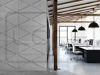 Loft Design System Deutschland - Wandpaneele aus Bayern Office spaces & stores Concrete Grey