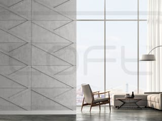 Loft Design System Deutschland - Wandpaneele aus Bayern Living room Concrete Grey