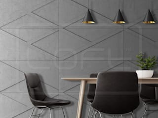 Loft Design System Deutschland - Wandpaneele aus Bayern Industrial style dining room Concrete Grey