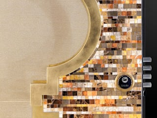 Porta mosaico in marmo di Ercole Srl Moderno