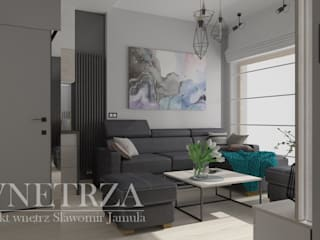 Mieszkanie Warszawa: styl , w kategorii  zaprojektowany przez Pracownia Projektowa Jamuła Sławomir