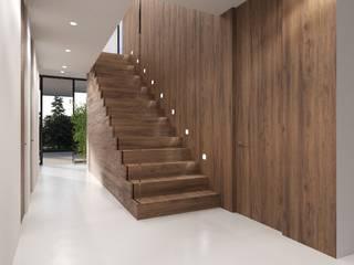 Couloir, entrée, escaliers modernes par Nuno Ladeiro, Arquitetura e Design Moderne