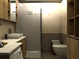 Este Mimarlık Tasarım Uygulama – UG EVİ - Banyo Tasarımı: modern tarz , Modern Ahşap-Plastik Kompozit