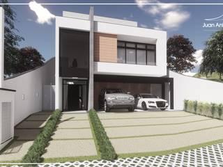 Juan Jurado Arquitetura & Engenharia Maisons mitoyennes Béton Blanc