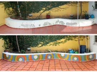 Cantero en Jardín Maternal:  de estilo  por Compañía de Mosaicos
