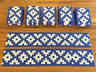Guarda y Fondo de Pileta: Piletas de jardín de estilo  por Compañía de Mosaicos