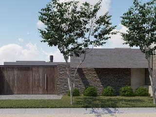 🔋🌱CASA BP 🌱🔋 Vivienda Sustentable: Casas ecológicas de estilo  por ARBOL Arquitectos