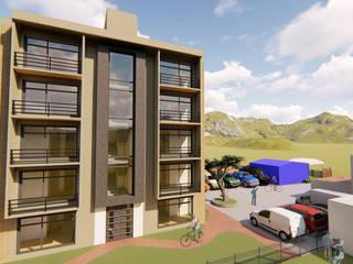DISEÑO ARQUITECTÓNICO - PROYECTO DE VIVIENDA MULTIFAMILIAR Habitaciones de estilo minimalista de DS ARQUITECTURA Y CONSTRUCCION Minimalista