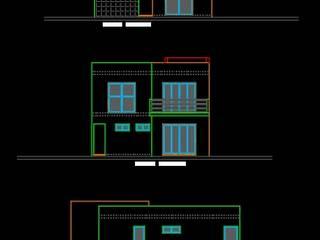 Casa Key_Con: Casas pequeñas de estilo  por Nuup Arquitectos,