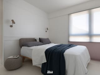 邑田空間設計 Minimalist bedroom White