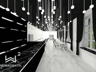 Restauracja hotelowa Wkwadrat Architekt Wnętrz Toruń Hotele Marmur Czarny