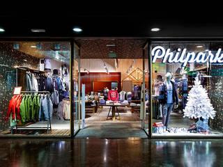 Industriële kantoor- & winkelruimten van Piedra Papel Tijera Interiorismo Industrieel
