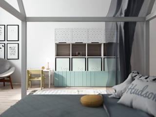 Kid's room P.W. от Motif Studio Скандинавский
