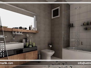 FORMS MİMARLIK Modern style bathrooms