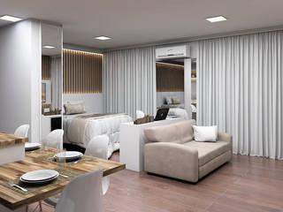 Studio Moderno e Contemporâneo Corredores, halls e escadas modernos por Projeto 3D Online Moderno