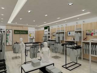 Render Retail Italmod en Santiago: Oficinas y Comercios de estilo  por AUTANA estudio, Minimalista