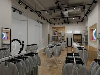 Render Retail Italmod en Santiago: Espacios comerciales de estilo  por AUTANA estudio, Minimalista