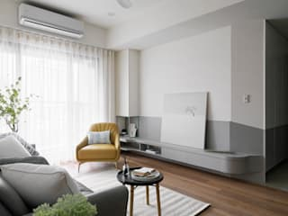 ห้องนั่งเล่น โดย 寓子設計, สแกนดิเนเวียน