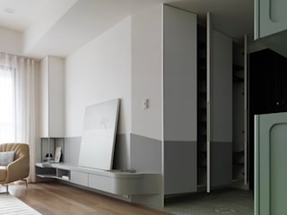ระเบียงและโถงทางเดิน โดย 寓子設計, สแกนดิเนเวียน