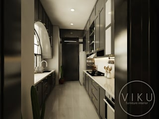 viku Built-in kitchens Wood Grey
