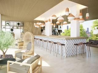 Mediterranean style hotels by Piedra Papel Tijera Interiorismo Mediterranean