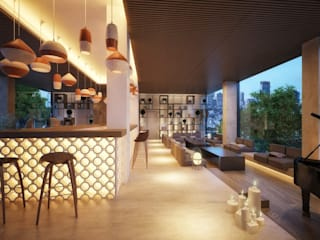 Mediterrane hotels van Piedra Papel Tijera Interiorismo Mediterraan