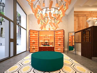 Modern offices & stores by Piedra Papel Tijera Interiorismo Modern