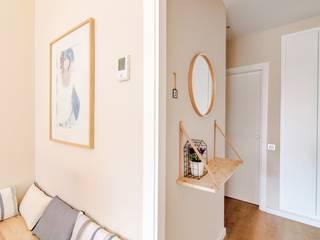 Scandinavian style corridor, hallway& stairs by Piedra Papel Tijera Interiorismo Scandinavian