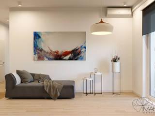 Дизайн інтер'єру двокімнатної квартири в стилі мінімалізм, Київ Марина Янченкова Кухня Білий