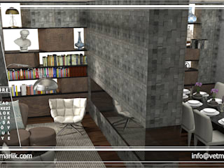 Modern living room by VET MİMARLIK Modern