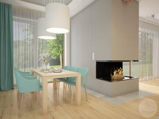 Nevi Studio Comedores de estilo escandinavo Azul