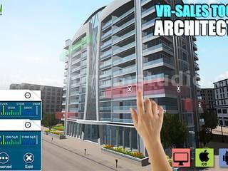 Interactive Web Base Real Estate Architecture of VR Development by 3D Walkthrough Services, Rome – Italy Modern Evler Yantram Architectural Design Studio Modern