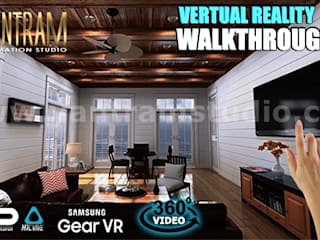 Interactive Web Base Real Estate Architecture of VR Development by 3D Walkthrough Services, Rome – Italy Modern Oturma Odası Yantram Architectural Design Studio Modern