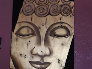 Buddha Colori nel Tempo - decorazioni pittoriche ArteImmagini & Dipinti Legno Ambra/Oro