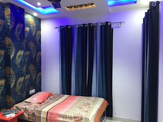Independent house @ uttam nagar:   by Onecolor Decor,