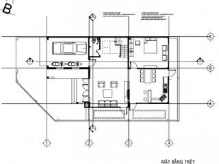 Mẫu biệt thự đẹp 2 tầng ở Bạc Liêu bởi Công ty TNHH Thiết Kế Xây Dựng Song Gia Phát Hiện đại