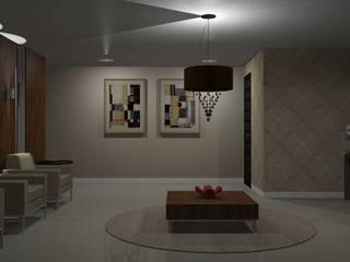 Área comum de prédio residencial Corredores, halls e escadas modernos por Jaqueline Ribeiro - Designer de Interiores Moderno