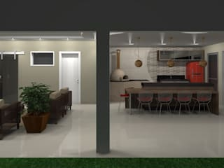 Espaço gourmet na piscina Cozinhas modernas por Jaqueline Ribeiro - Designer de Interiores Moderno