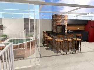 Espaço gourmet com jacuzzi Spa moderno por Jaqueline Ribeiro - Designer de Interiores Moderno
